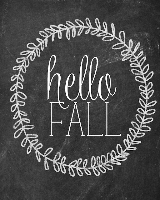 free fall printable chalkboard