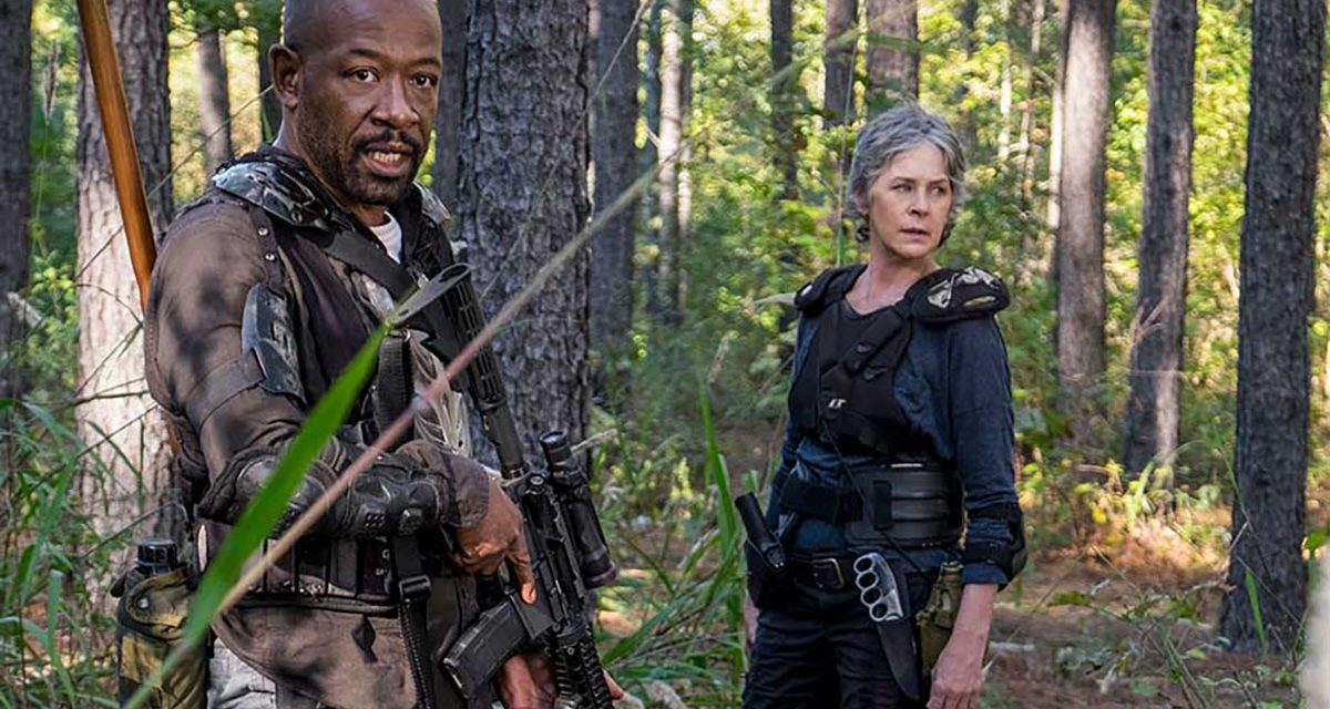 Carol y Morgan en el episodio 8x14 Still Gotta Mean Something de The Walking Dead