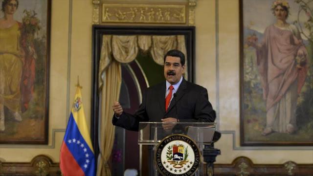 Maduro tacha de 'crimen de lesa humanidad' sanciones de EEUU