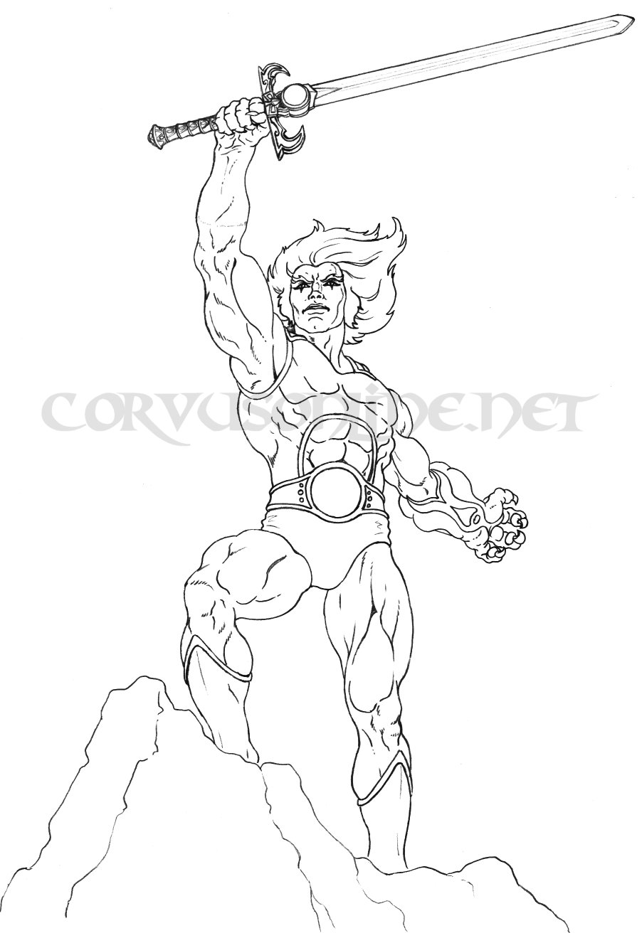 Thundercats para dibujar pintar colorear imprimir recortar for Coloring pages thundercats