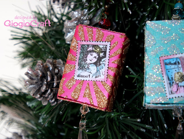 DIY Tree Christmas decoration on budget: Sparkling Matchboxes