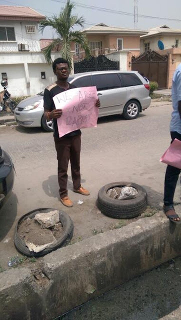 """taxxxx - """"We Are Not Rapists, We Need Respect"""" – Taxify Drivers Protest In Lagos"""