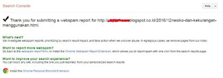 Laporan Blog AGC Berhasil Terkirim