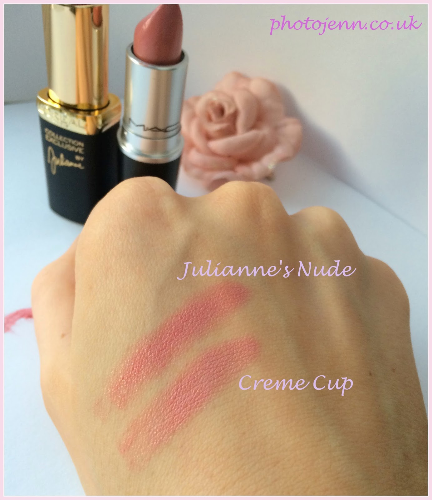 L'Oreal-Exclusive-Nudes-Lipstick-Barely-Peach-creme-cup-dupe-swatch
