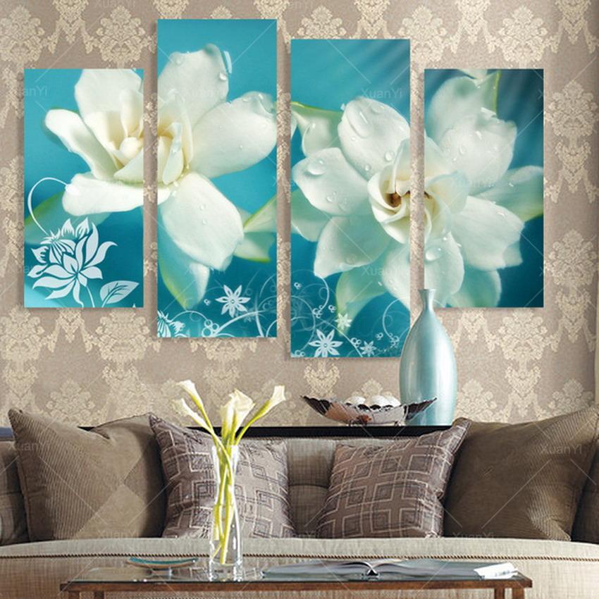 Im genes arte pinturas pinturas de flores al leo modernos for Lienzos para salon modernos