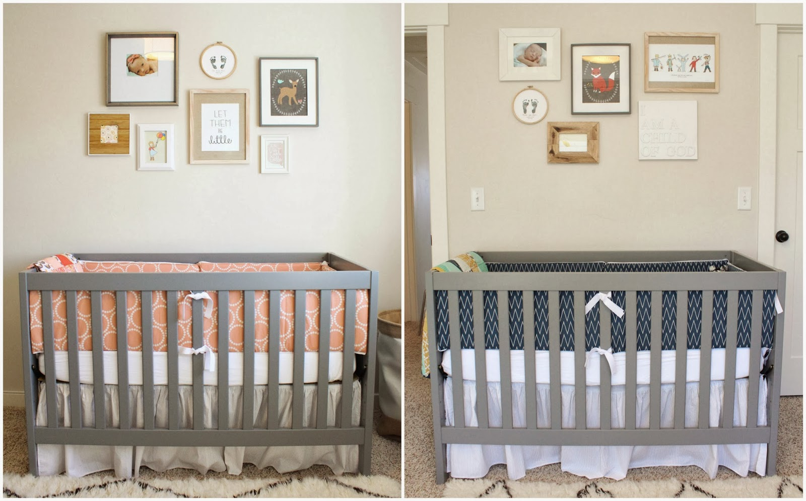 A Gender Neutral Twin Nursery Boy Twins Nurserysimple Decor