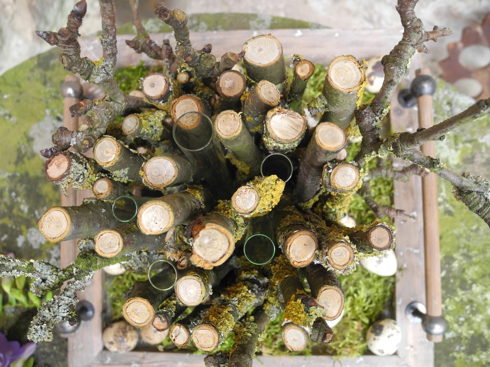 Frühlingsdeko schmiedegarten frühlingsdeko mit ästen