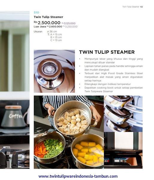 Twin Tulip Steamer, Panci Tulipware 2017