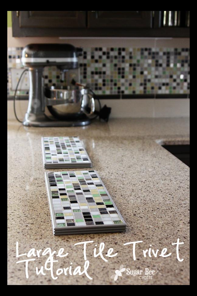 Completely new Large Tile Trivet - Sugar Bee Crafts TU38