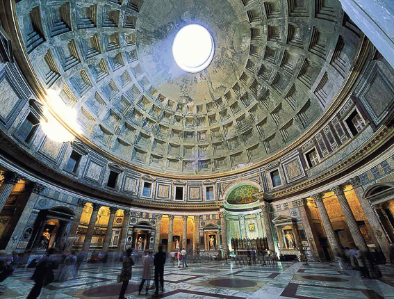 Interior del Panteon de Roma