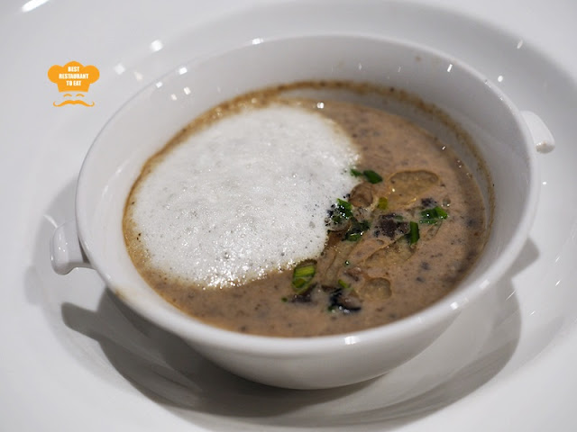 Wild Forest Mushroom with Truffle Forth - Vegetarian Fine Dining