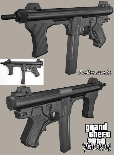 gta sa mod arma brasileira taurus m972 mt12 beretta m12