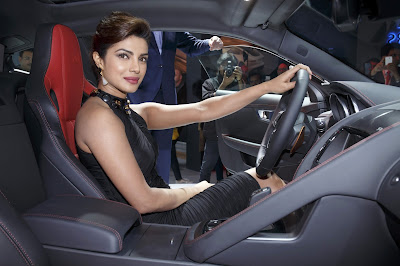 Priyanka Chopra Driver Jaguar Car F Type 4K