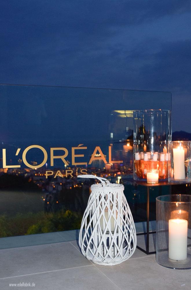 Cannes und die L'Oréal Villa bei Nacht