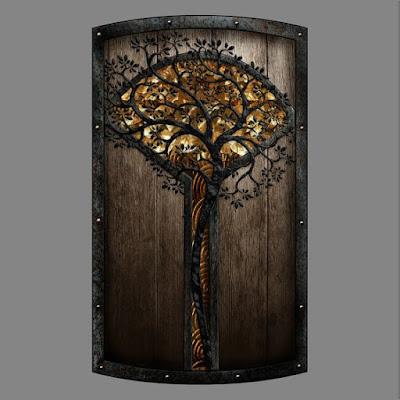 Um escudo interessante para um druida combatente.