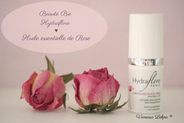 cosmétique bio et français Centella gamme hydraflore à l'huile essentielle de Rose contours des yeux Vanessa Lekpa