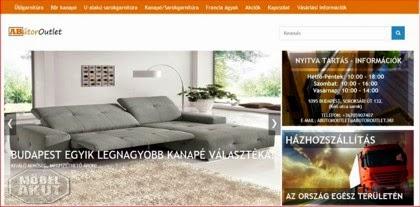 kanapék az ABútor Outlet áruház honlapján