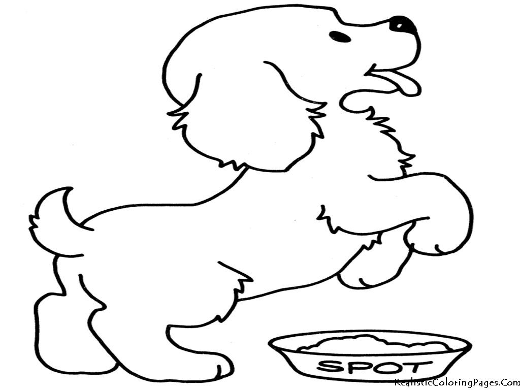 Gambar Mewarnai Anjing ~ Gambar Mewarnai Lucu