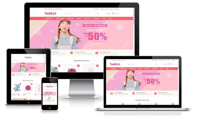 template bán hàng blogspot chuẩn seo responsive