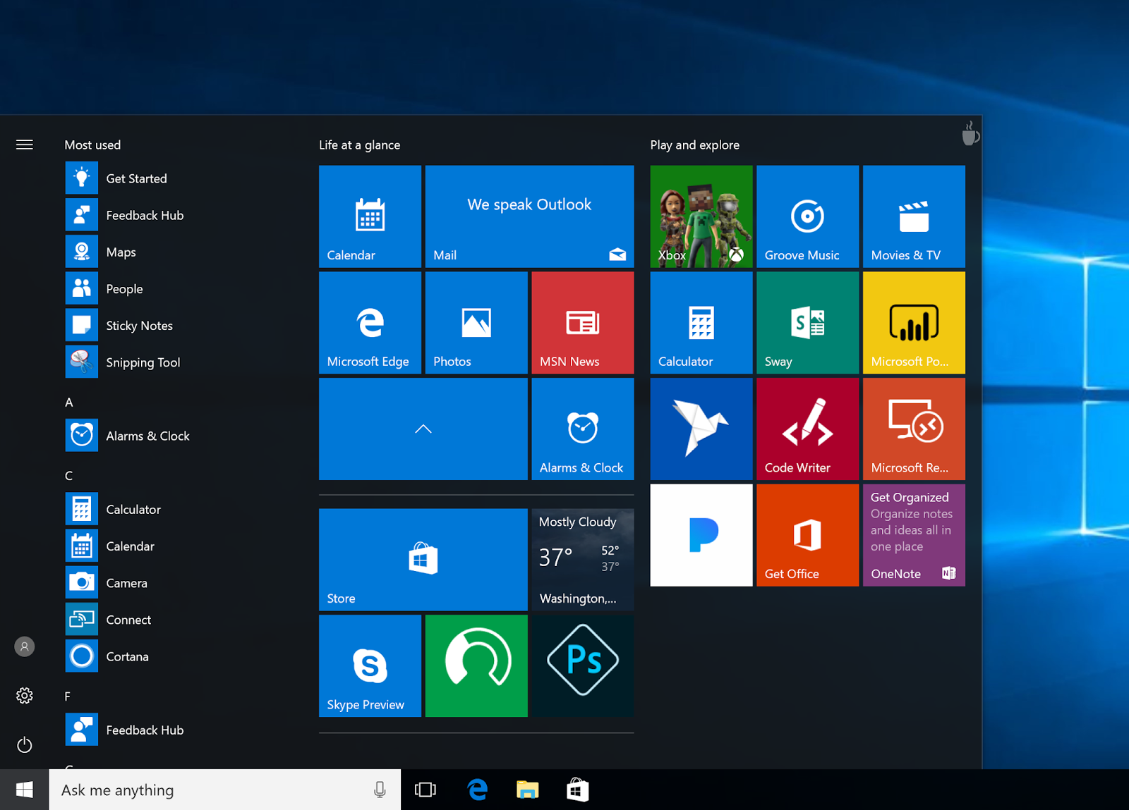 Le Cartelle per le App nel Menu Start di Windows 10 PC HTNovo