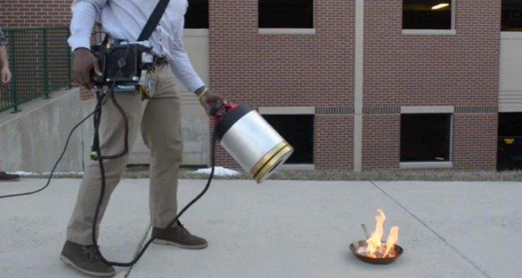 New Fire Extinguisher Put Out Fire Using Only Sound