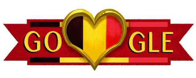 Belgium National Day 2016 - Google Doodle