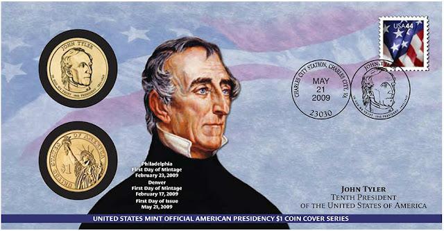John Tyler 2009 One Dollar Coin Cover