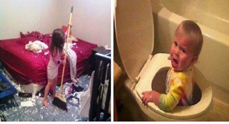 أطفال استطاعوا تدمير المنزل في لحظات قليلة ..ممنوع دخول المقبلين على الزواج لتجنب الصدمة