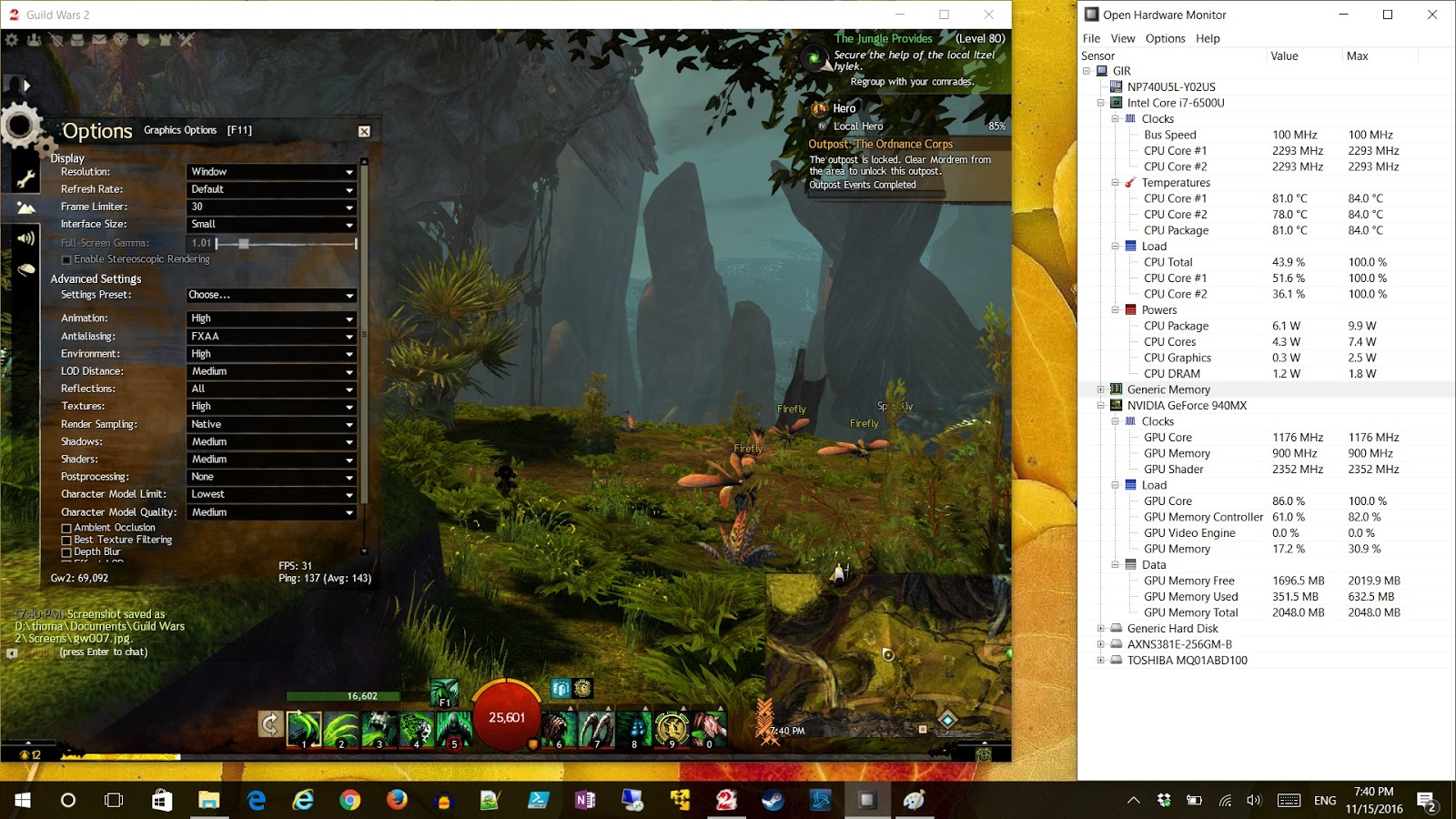 Tom's Random Tech Blog: Guild Wars 2 Graphics Settings on