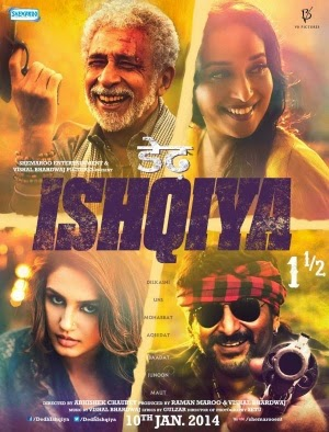 2014 Bollywood movie Dedh Ishqiya Poster