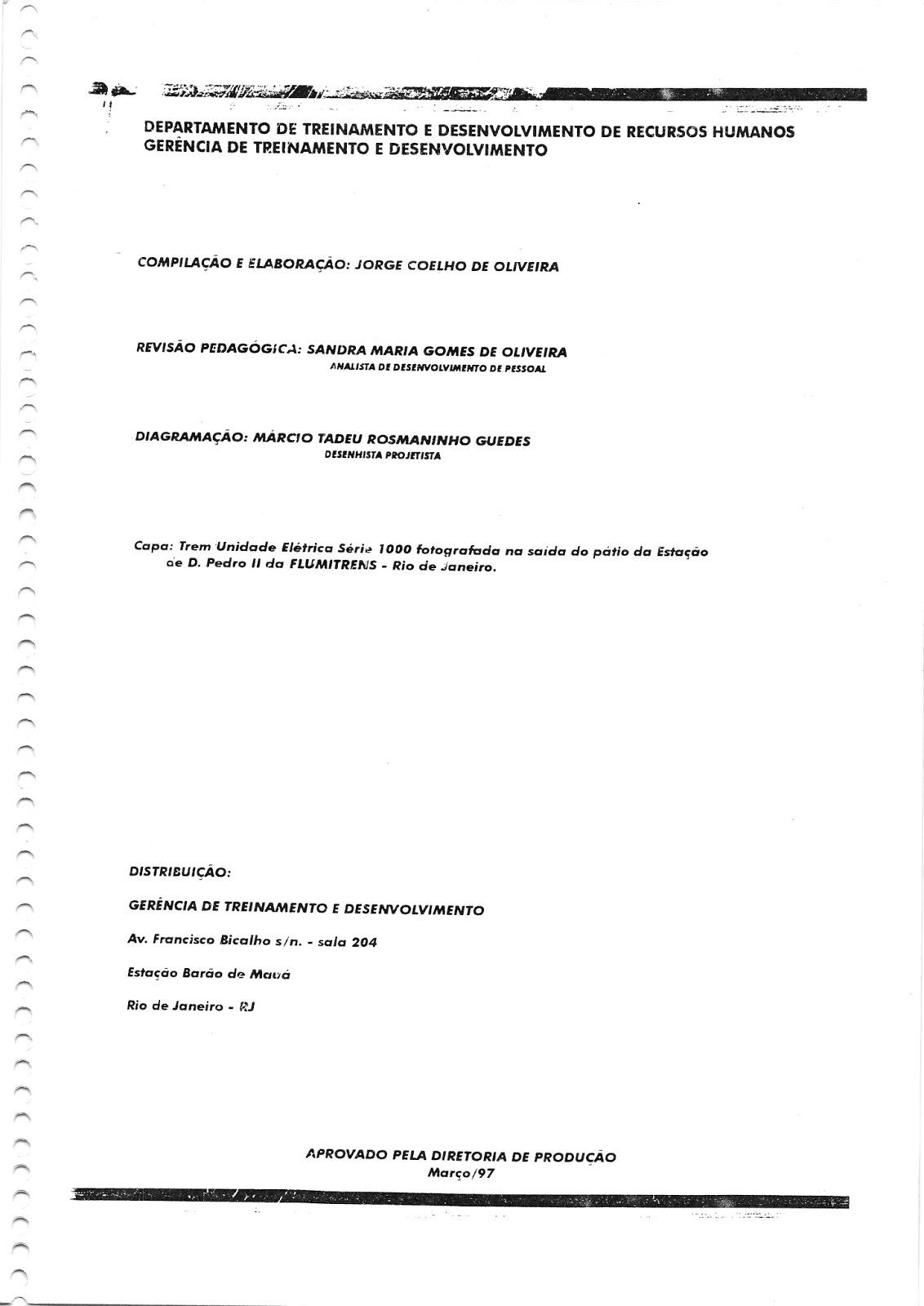 Linha Auxiliar: Manual de operação dos trens da série 1000