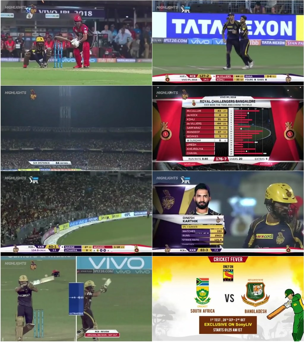 RCB vs KKR Full Match Highlights (2018) Full HD 720p Free ...