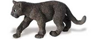black panther cub toy miniature