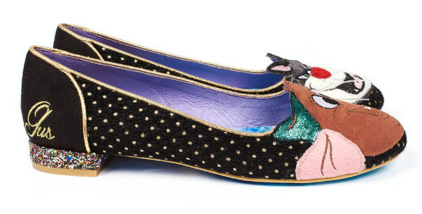 side view of Irregular Choice Lucifer & Gus flat shoes