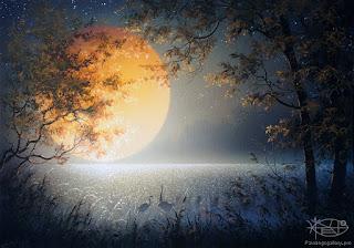 paisajes-nocturnos-con-luna-llena-pintados-al-oleo