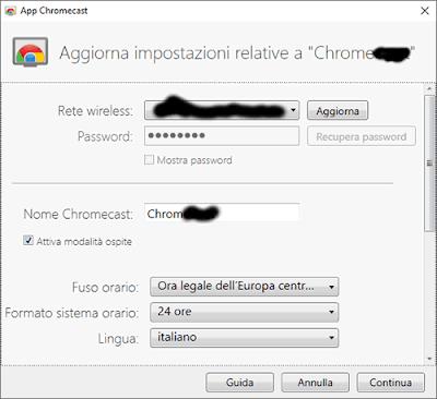 configura chromecast
