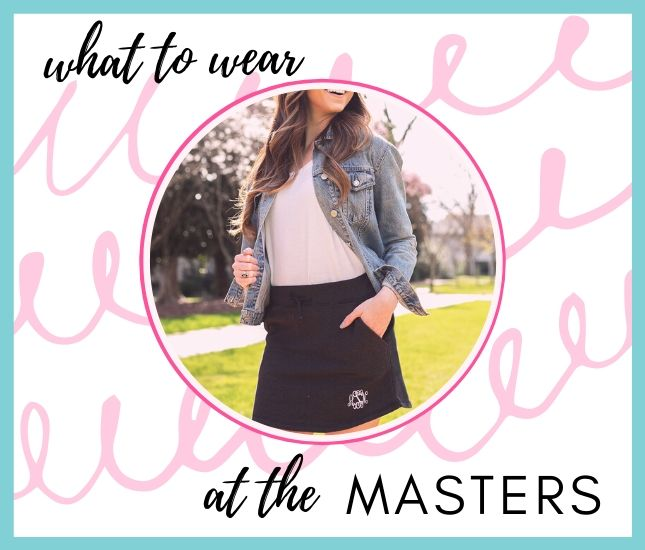 monogrammed top and skirt to wear to the masters