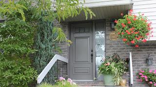 Porte d`acier de couleur sur mesure pour maison-de-La-Prairie