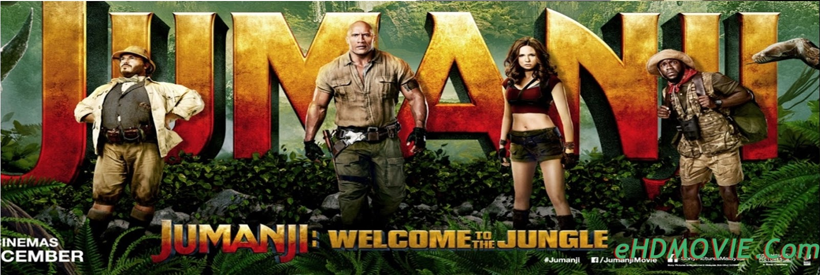 Jumanji Welcome to the Jungle 2017 Full Movie Dual Audio [Hindi – English] 1080p - 720p - HEVC - 480p ORG BRRip 400MB - 550MB – 1.4GB - 2.3GB ESubs Free Download