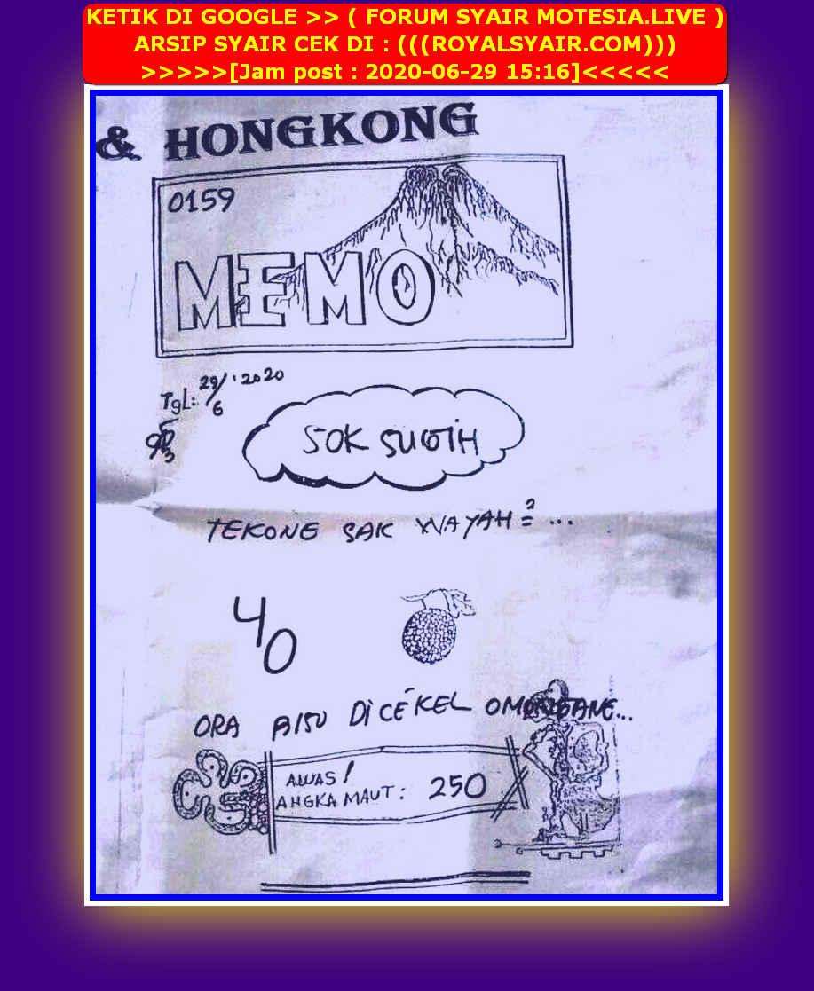 Kode syair Hongkong Senin 29 Juni 2020 50