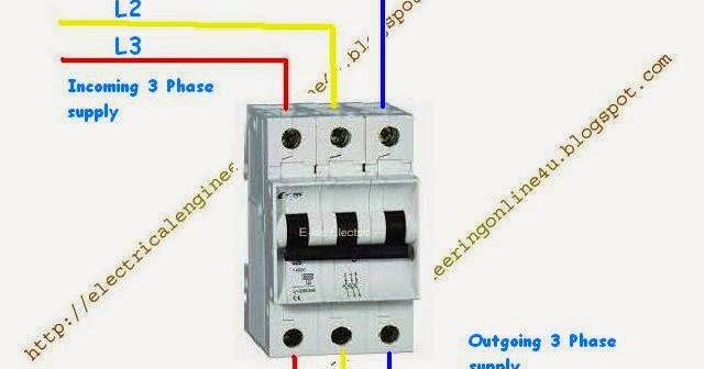 how to wire 3 pole circuit breaker electrical online 4u. Black Bedroom Furniture Sets. Home Design Ideas