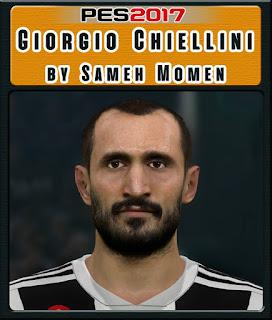 PES 2017 Faces Giorgio Chiellini by Sameh Mom