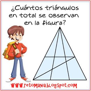 ¿Cuántos triángulos hay?, Descubre el número de triángulos