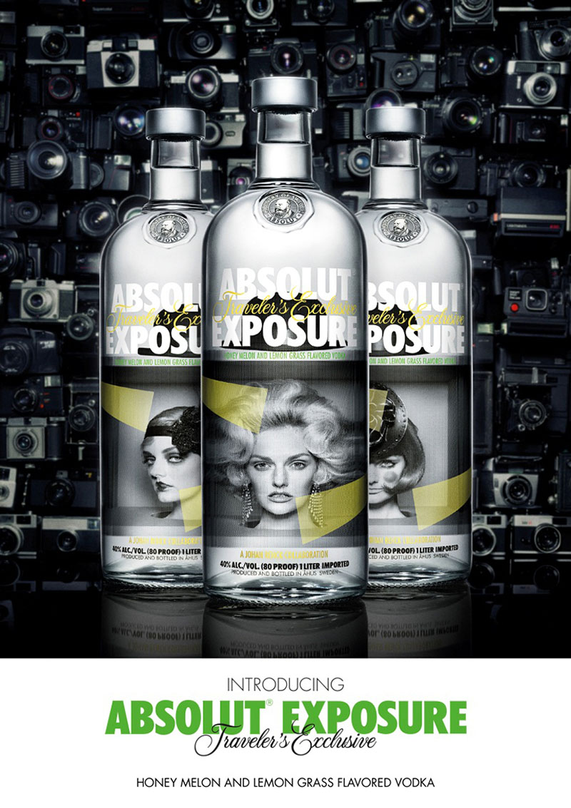 absolut exposure bottles
