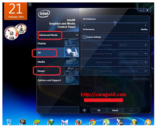 Mengatur Intel HD Graphics