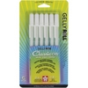 Sakura 6 WHITE Gelly Roll Classic Medium Point Pens Set