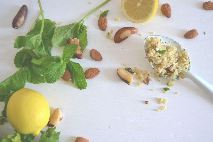 salade de quinoa aux amandes spoonencore