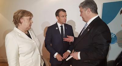 Порошенко встретился в Париже с Меркель, Макроном и Трампом
