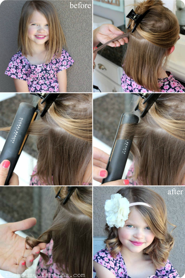 How To Do Curly Hairstyles With Straightener | Hair