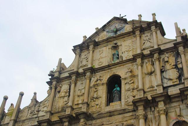 St. Paul Ruins and Museu de Macau in Monte Fort, Macau